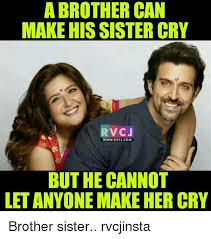 Brother Sister Memes - a brother can make hissister cry rv cj www rvcjcom but he cannot