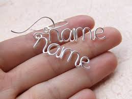personalized earrings your next project personalized earrings any word or name up