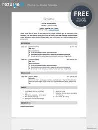 Free Traditional Resume Templates Effective Free Resume Templates Rezumeet Com Rezumeet On Pinterest