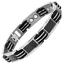 titanium balance bracelet images Mens titanium 3000 gauss magnetic therapy bracelet featuring black jpeg