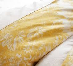 Yellow Duvet Cover King Matine Toile Duvet Cover U0026 Sham Marigold Yellow Pottery Barn
