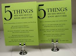 Reception Cards Wedding Reception Cards Five Things About Him And Her U2014 Seahorse
