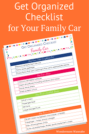 Items To Put In Advent Calendar The Organised Housewife Get Organized Checklist For Your Car