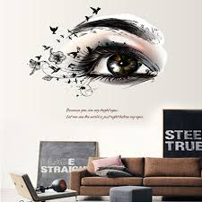 online get cheap simple wall decorations aliexpress com alibaba 1pcs stylish simple european style eye diy wall stickers for kids rooms wall decorations living room