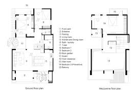 mezzanine floor plan house gallery of new house râu arch 23