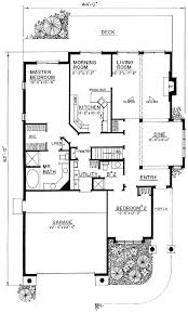 narrow lot floor plans narrow lot house plan with handicap features 43008pf