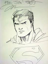 jim lee superman sketch by j1177o1 on deviantart