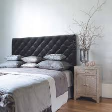 best grey bedroom ideas with nice bedside table and wood floors