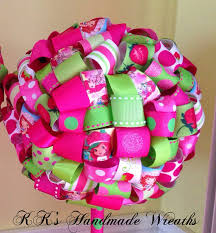 strawberry shortcake ribbon items similar to strawberry shortcake ribbon topiary on etsy