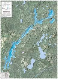 Wall Maps Lake Owen Enhanced Wall Map
