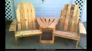 Red Shed Double Glider Chair With Table by Woodworking Plans Adirondack Chair Youtube