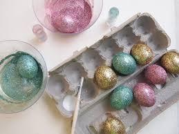 diy decorative glittered easter eggs