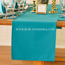 teal table runners 14 x 108 inches teal table runner for weddings