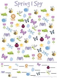 i spy game for spring simple play ideas