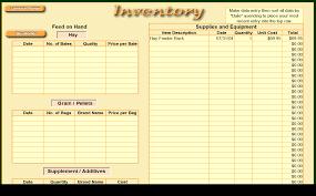 Computer Inventory Spreadsheet Livestock Management Com Goat Tracker