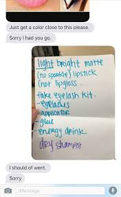 Trending Funny Text Messages To - girl asks boyfriend to buy makeup regrets her decision
