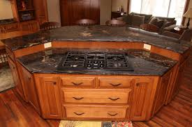 kitchen with stove in island kitchen island kitchen island with seating and stove also black