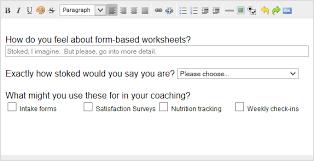 using form based worksheets