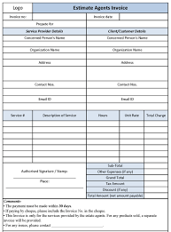 Free Real Estate Template by Real Estate Invoice Invoice Template Ideas