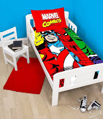 Spongebob Toddler Comforter Set by Marvel Avengers Comics Duvet Quilt Cover Bedding Set For Junior