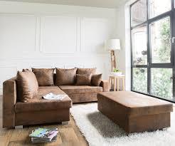 ecksofa mit ottomane couch lavello braun 210x210 antik optik ottomane links hocker ecksofa