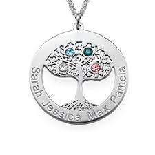 personalized family tree necklace family tree jewelry meaningful gifts for forevermom