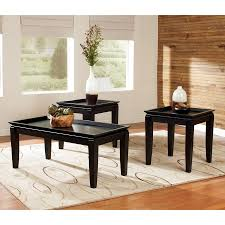 Black Accent Table Shop Signature Design By Ashley Delormy 3 Piece Almost Black