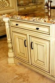 grey glazed kitchen cabinets cream cabinets with grey glaze and