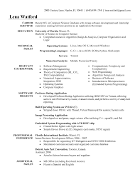 Internship Resume Samples For Computer Science by 100 Objective Section Of Resume For Internship Resume