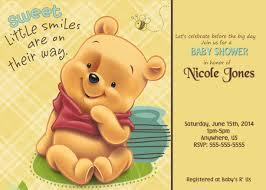 winnie the pooh baby shower custom invitations 8 99 winnie the