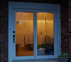 home office makeover frosted glass spray for privacy on patio