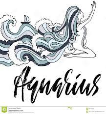 Astrology Sign Zodiac Sign Of Aquarius Astrology Vector Illustration Sketch