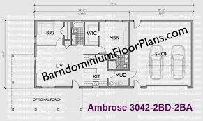 2 bedroom 2 bath floor plans custom barndominium floor plans and stock pole barn homes