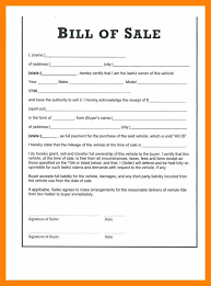 3 bill of sale template for car informal letter