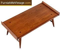 vintage mid century modern coffee table kroehler coffee table mid century modern walnut boomerang side table