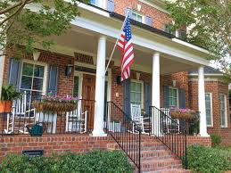 American House Flag Traditional Brick In A New Home Is Already A Classic