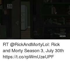 Adult Swim Meme - 14 dlsv adult swim rt rick and morty season 3 july 30th
