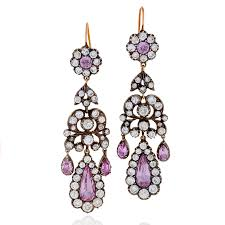 girandole earrings diamond pink topaz gold and silver top girandole earrings