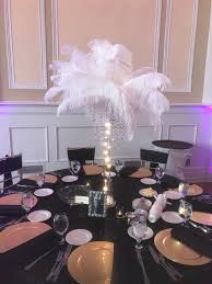 ostrich feather centerpieces ostrich feather centerpiece elegante events wedding and event