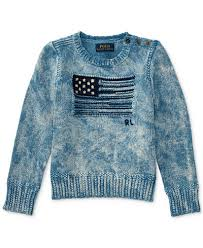 ralph american flag graphic cotton sweater toddler