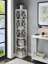 amazon com convenience concepts oxford 5 tier corner bookcase