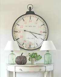 cool house clocks tara u0027s home made lovely cool foyer table and clock for the