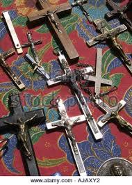 crosses for sale christian crosses for sale at porta portese market in rome stock