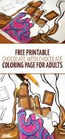 free printable chocolate with chocolate coloring page for adults