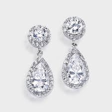 zirconia earrings 56 earrings zirconia gold plated cubic zirconia teadrop dangle