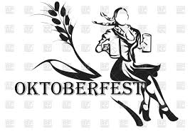 beer vector oktoberfest abstract silhouette of woman with beer vector