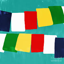 Flag Prayer Prayer Flags Painting By Linda Woods