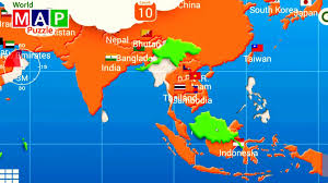 map if asia map of asia and the countries in puzzle it learning