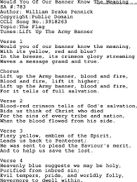Christian Banner Flags Salvation Army Hymnal Song Would You Of Our Banner Know The