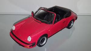 porsche 911 black 1 18 1983 porsche 911 carrera cabriolet red with black interior by